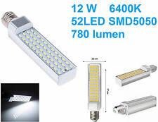 Lampada LED E27,luce bianca,bianco freddo,lampadina,220V 12W 5050 SMD 85v-265v