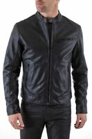 ★Giacca Giubbotto Uomo in di PELLE 100% Men Leather Jacket Veste Homme Cuir w107