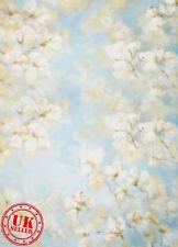 Blu Floreale sfondo carta da Parati Vinile Sfondo Foto di scena 5X7FT 150x220CM