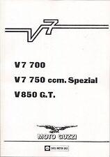 Moto Guzzi Reparaturanleitung V7 700; V7 750 Spezial ; V850 GT G.T. , neu