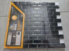 House of Mosaics Mini Metro Black Self-Adhesive Tile Sheet 296mm x 296mm x 6mm