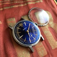 Vintage Russian USSR ☭ ZIM POBEDA 2602 Men Watch Very Cool Dial for Parts
