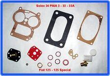 Solex 34 PAIA 3,Vergaser Rep.Satz,Fiat 125,125 S