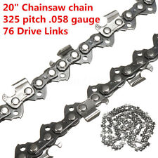 20'' Inch Chainsaw Saw Chain 325 pitch 0.058'' gauge 76DL Drive Links Hard Metal