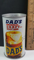 Dads Draft Root Beer Can Flat Pull Tab Top Chicago 7-Up 7UP 1 Rare Vintage