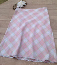 T Cotton skirt Aline  check floral 12 Holiday beach camping caravan festival