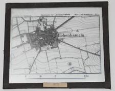 Hohenhameln, Landkarte, antikes Lichtbild Glasplatte ca. 1925 #E863