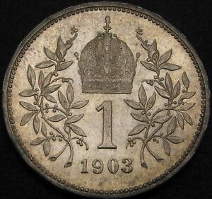 AUSTRIA 1 Corona 1903 - Silver - Franz Joseph I - XF - 2206 ¤