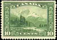 Canada #155 mint F-VF OG NH 1928 Scroll Issue 10c green Mount Hurd, BC CV$39.00