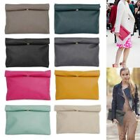 Style2030 NEW KOREA Oversized Envelope Roll Up Clutch Shoulder Bags [B1248]