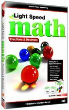 Light Speed Math: Fractions & Decimals (2009, REGION 1 DVD New)