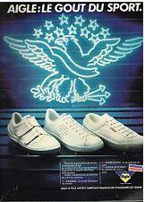 Publicité Advertising 1980 Les Chaussures Baskets Aigle