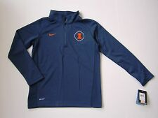 NIKE DRI FIT UNIVERSITY OF ILLINOIS NWT $50 EMBROIDERED 3/4 ZIP JACKET YOUTH S