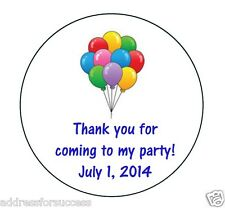 24 Personalized Happy Birthday Balloons Party Stickers Party Favors
