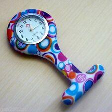 "Nurses Fob Watch Funky New Design Quality Watch Australian Stock ""Funky Dots"""