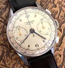 Charles Nicolet Tramelan ACERO INOX 144 WORKING Chronograph 37 mm watch vintage