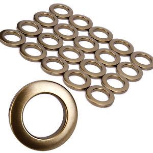 Pack of 20 Home Plastic Ring Fit Eyelet Curtain Circle Slide Rings Matt Coffee