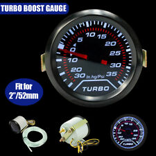 Currently 52mm 2″ White LED Car Auto Turbo Boost Press Gauge Smoked Dial Psi