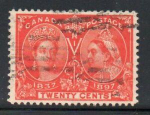 Canada Sc 59 1897 20c vermilion Victoria Jubilee stamp used