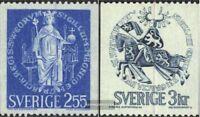 Schweden 672y-673y (kompl.Ausg.) postfrisch 1970 Freimarken