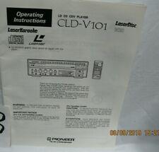 cld v 101 laser karaoke laser disc operating instructions manual