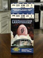 SEC 1998 Championship Football Ticket Stub Tennessee VS MississippiState UNUSED