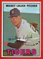 1967 Topps #88 Mickey Lolich VG-VGEX+ CREASE Detroit Tigers Free Shipping