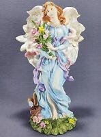 Gardening Angel in Blue Figurine