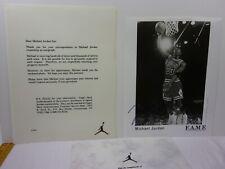"""1994 Michael Jordan FAME management service 8x10"""" photo facsimile signature"""