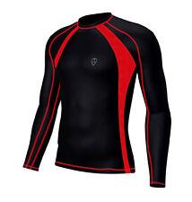 Abbigliamento da uomo rossi in maglia per palestra, fitness, corsa e yoga taglia XL