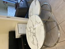 MARBLE COFFEE TABLE  TOP SET OF 2 ROUND