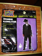 MAN ZOMBIE GANGSTER HALLOWEEN COSTUME ONLY NO MASK ADULT LARGE 40-42 SURPLUS