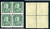 MISPERFORATED MNH Canada 2 Cent KGV Arch Block of 4 #164 var (Lot #12320)