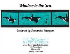 Row by Row H20 Kit 2015 RxR  Orca Killer Whale Sea World Quilt Kit Row