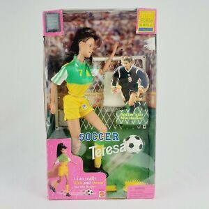 1998 BARBIE Mia Hamm Soccer Teresa, Mattel 20207 Doll FIFA Word Cup Mattel.