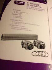 Frigidaire Smart Choice 8' Simi-rigid Dryer Vent Kit -2 Elbows -4 Clamps-& Tape