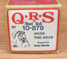 Q.R.S. Player Word Roll (10-879) Ahab The Arab Played by Rudy Martin *READ*