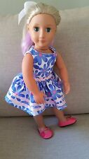 "AMERICAN GIRL GOTZ OUR GENERATION JOURNEY 18"" INCH DOLL'S CLOTHES DRESS"