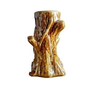 ALANKARA Tree Trunk Shaped Flower Vase Porcelain Textured Polished Flower Holder