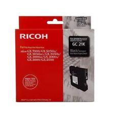 Original Ricoh Gc 21 K Black Aficio GX3000S GX 3050N Sfn GX2500 Boxed 01/2014