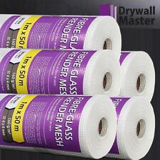 White Fiberglass Mesh Roll 1mx50m 50sqm 160g Plastering /& Rendering Building UK