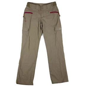 Cabelas XPG Stretch Trail Nylon Pants Womens Roll Up Hiking Tan Size 8 32x32