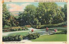 Postcard Formal Garden in Golebay Wheeling West Virginia