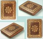 Antique+Gold+Embossed+Leather+Pin+Cushion+%2A+English+%2A+Circa+1870+