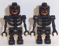 Lego 2 x Evil Skeletons Minifig Black Skeleton Minifigures