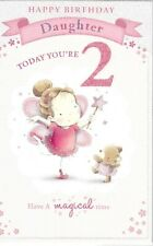 Daughter 2nd birthday card ~ quality card with paper insert