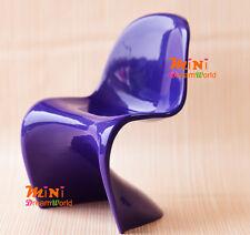 "1/6 Dollhouse Miniature Furniture Plastic""S"" Shape Purple Chair For Barbie dolls"