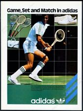 online store 3b494 e2a7c 1978 Adidas Stan Smith tennis shoes Ilie Nastase photo vintage print ad