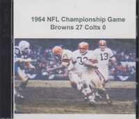 1964 NFL Championship Game Cleveland Browns beat the Baltimore Colts on CD
