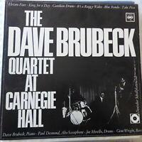 THE DAVE BRUBECK QUARTET LP AT CARNEGIE HALL 1963 GERMANY VG+/VG++